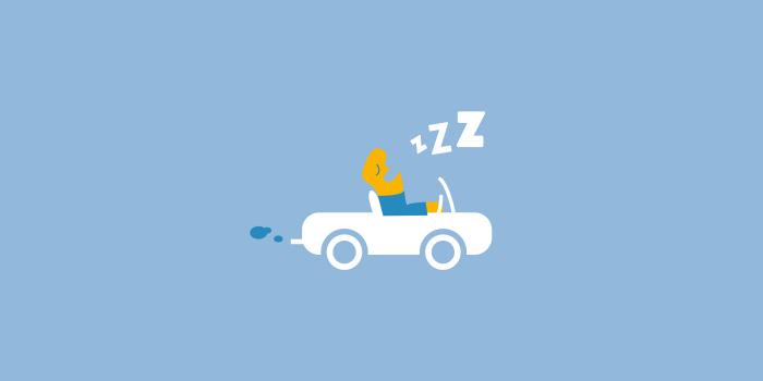 Schlaf und Straßenverkehr